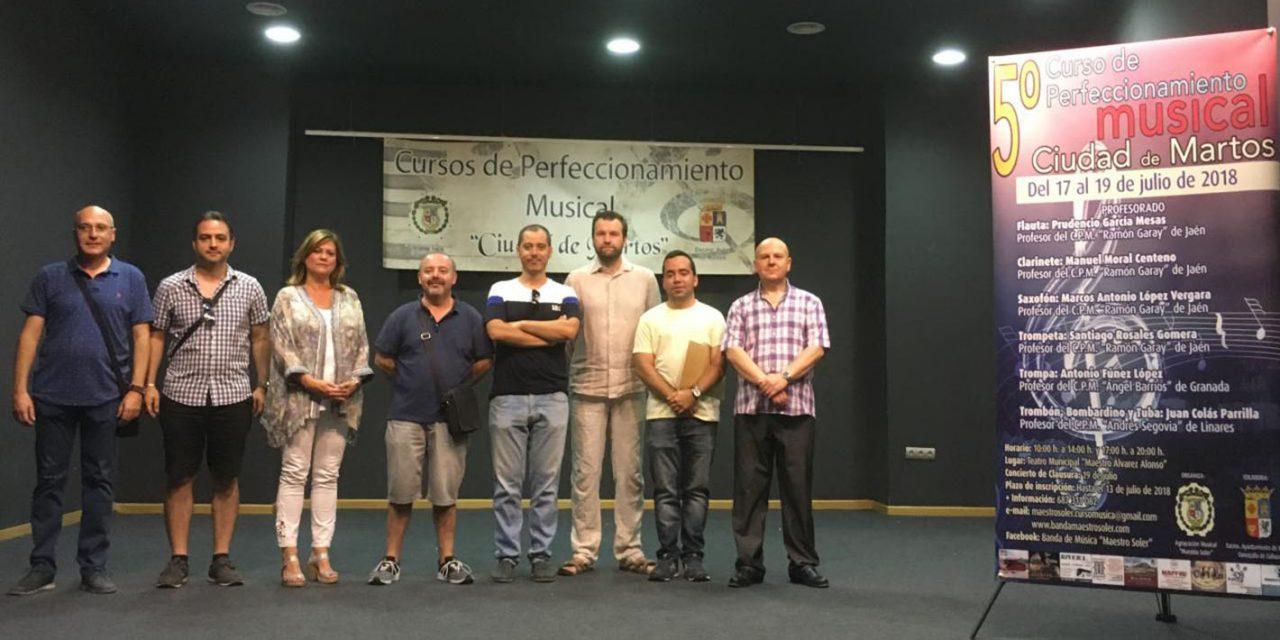 Cerca de medio centenar de estudiantes participa en el 5º Curso de Perfeccionamiento Musical Ciudad de Martos