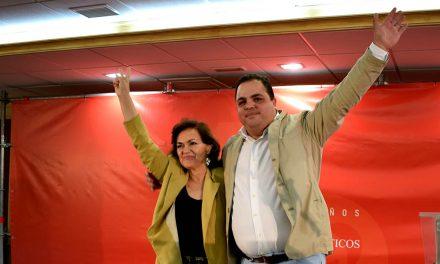 Carmen Calvo pide el voto para una mayoría suficiente del PSOE en Martos