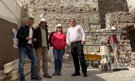 Avanzan a buen ritmo las obras de recuperación de la Torre Almedina