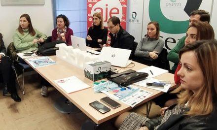 Puesta en común de asociaciones empresariales AJE Jaén y ASEM