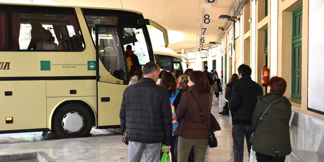 El número de viajeros del Consorcio de Transporte de Jaén baja un 56% en marzo